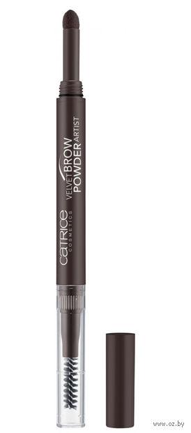 "Тени-карандаш для бровей ""Velvet Brow Powder Artist"" (тон: 030, темно-коричневый) — фото, картинка"