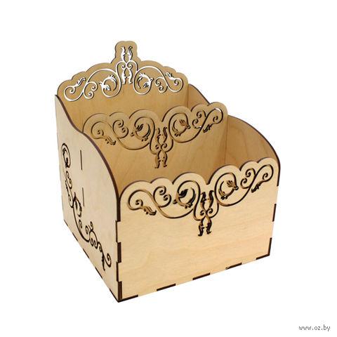 """Заготовка деревянная """"Подставка для салфеток. Узор"""""""