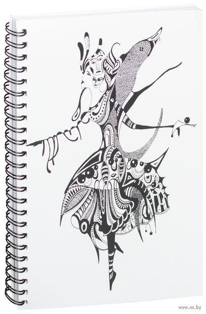 """Блокнот в клетку """"Балерина"""" (A5; арт. 1330) — фото, картинка"""