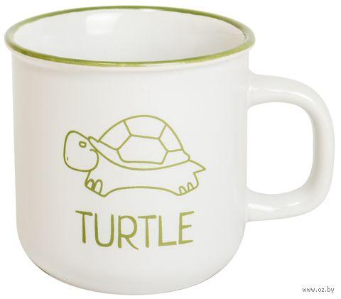 """Кружка """"Черепаха"""" (бело-зеленая) — фото, картинка"""