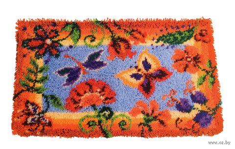 """Вышивка в ковровой технике """"Коврик. Декоративные цветы"""" (650х400 мм) — фото, картинка"""