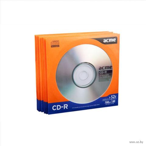 Диск CD-R 700MB 52х Acme (бумажный конверт; 10 штук)