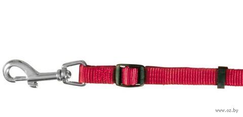 """Поводок регулируемый для собак """"Classic"""" (размер L-XL; 120-180 см; красный)"""