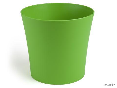 "Кашпо ""Фиалка"" (14,5 см; зеленое) — фото, картинка"