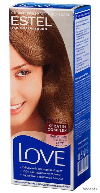 "Крем-краска для волос ""Love Intense"" тон: 8.74, капучино — фото, картинка"
