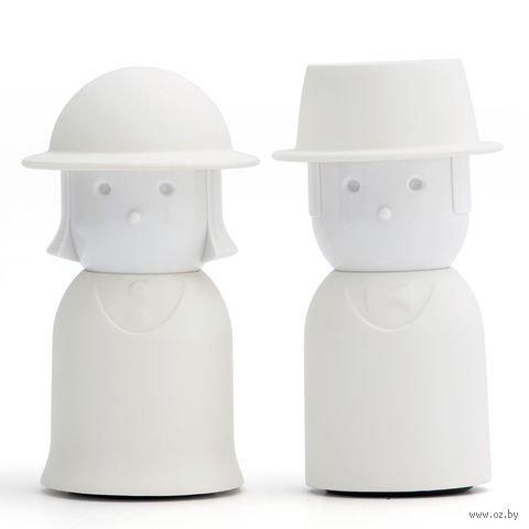 """Солонка и перечница """"Mr.Pepper & Mrs. Salt"""" (белый)"""