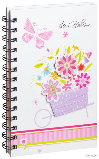 """Блокнот в линейку """"Бабочка и цветы"""" (А5; в ассортименте)"""