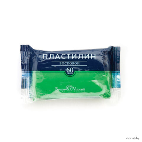Пластилин восковой (60 г; ярко-зеленый) — фото, картинка