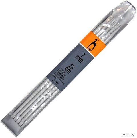 Спицы чулочные для вязания (пластик; 7 мм; 23 см) — фото, картинка