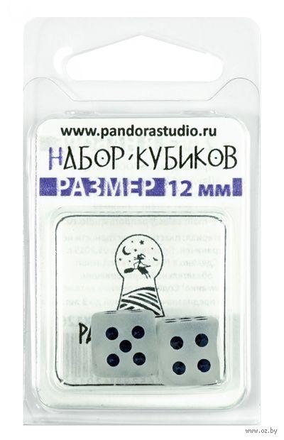 "Набор кубиков D6 ""Изморозь"" (12 мм; 2 шт.; белый) — фото, картинка"