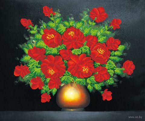 "Алмазная вышивка-мозаика ""Букет алых роз"" (520х620 мм) — фото, картинка"