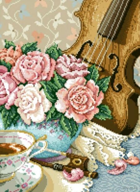 "Алмазная вышивка-мозаика ""Скрипка"" (400х550 мм) — фото, картинка"