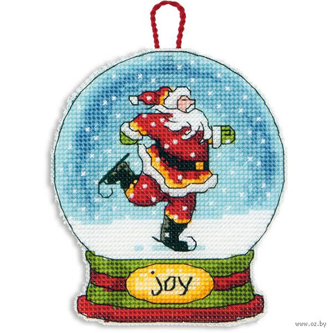 "Вышивка крестом ""Снежный шар. Радость"" (114х95 мм; арт. DMS-70-08905) — фото, картинка"