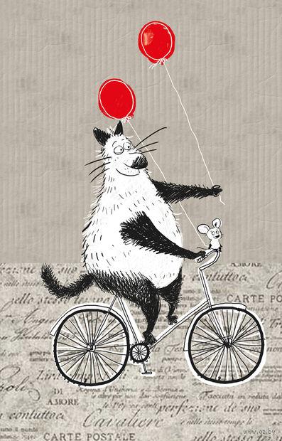 Блокнот, поднимающий настроение (на велосипеде) (125x200 мм) — фото, картинка