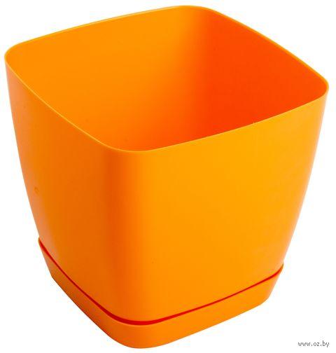 """Цветочный горшок """"Тоскана"""" (11х11х10,5 см; оранжевый) — фото, картинка"""