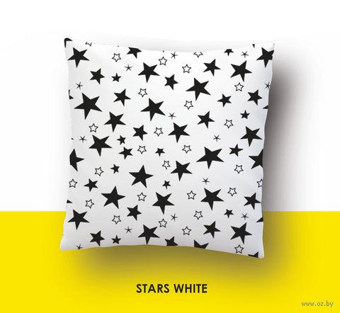 "Наволочка хлопковая ""Stars White"" (50x70 см) — фото, картинка"