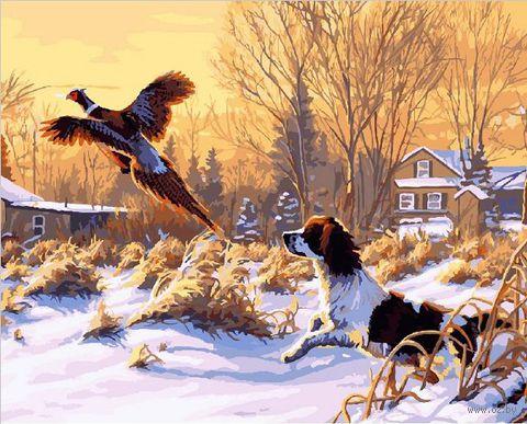 "Картина по номерам ""Зимняя охота"" (400х500 мм) — фото, картинка"