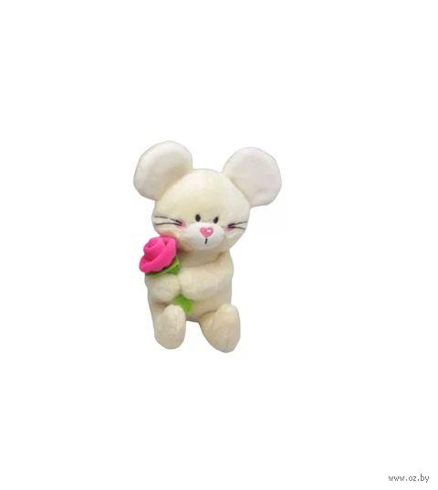 """Мягкая игрушка """"Мики с цветком"""" (15 см) — фото, картинка"""