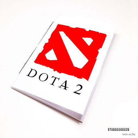 """Блокнот белый """"ДОТА 2"""" А7 (026)"""