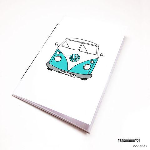 """Блокнот белый """"Volkswagen"""" А7 (арт. 721)"""