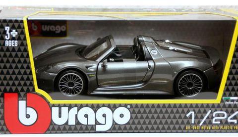 """Модель машины """"Bburago. Porsche 918 Spyder"""" (масштаб: 1/24) — фото, картинка"""