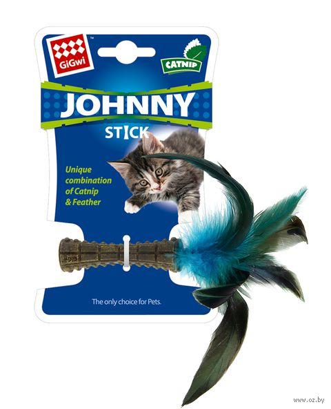 """Игрушка для кошек """"Прессованная кошачья мята с пером"""" (8 см; арт. 75399) — фото, картинка"""