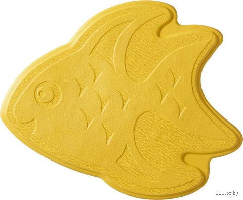 """Коврик для ванной резиновый """"Рыбка"""" (6 шт.; 13х11 см; желтый) — фото, картинка"""