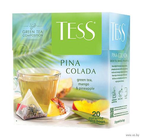 """Чай зеленый """"Tess. Pina Colada"""" (20 пакетиков) — фото, картинка"""