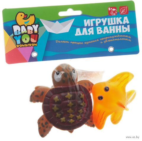 """Набор игрушек для купания """"Черепашка и скат"""" (2 шт.) — фото, картинка"""
