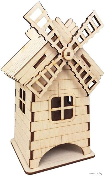 """Заготовка деревянная """"Чайный домик. Мельница"""" (105х100х200 мм) — фото, картинка"""