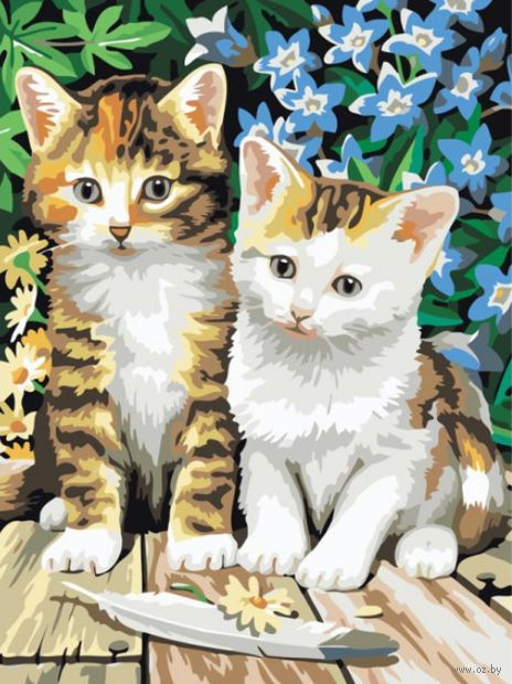 """Картина по номерам """"Котята"""" (300х400 мм) — фото, картинка"""