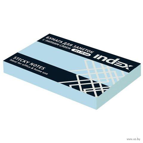 Стикеры (51х75 мм; 100 листов; голубые) — фото, картинка