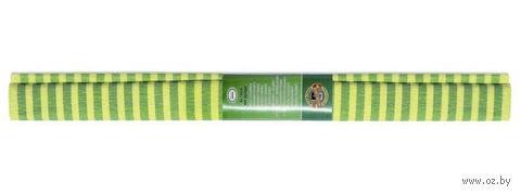 Бумага креповая (50х200 см; желто-зеленая полоска) — фото, картинка
