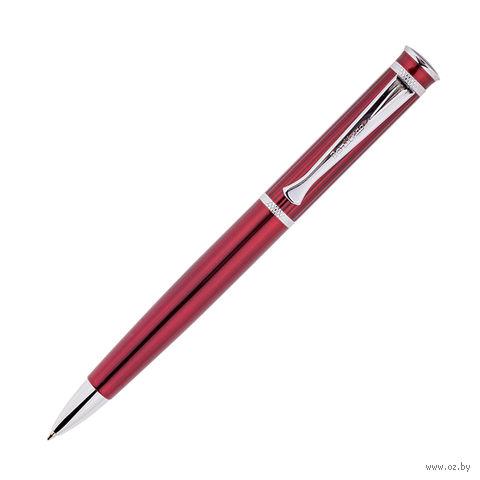 """Ручка шариковая автоматическая """"Velvet Premium"""" (цвет корпуса: бордовый; цвет стержня: синий)"""