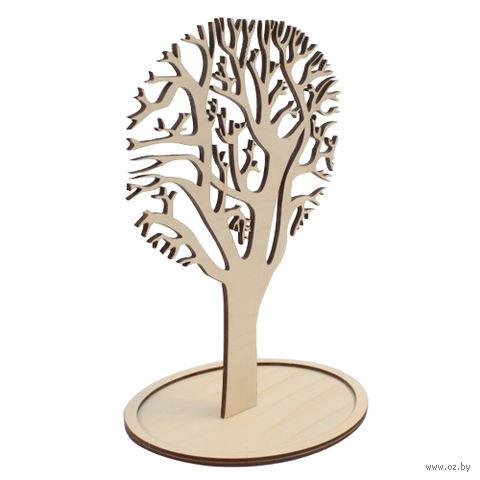 """Заготовка деревянная """"Дерево под бижутерию на подставке"""" (270х160 мм)"""