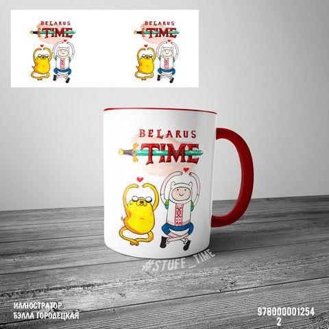 """Кружка """"Belarus time"""" (арт. 1254, красная)"""