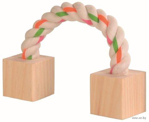 """Игрушка для грызунов """"Дерево и веревка"""" (20 см)"""