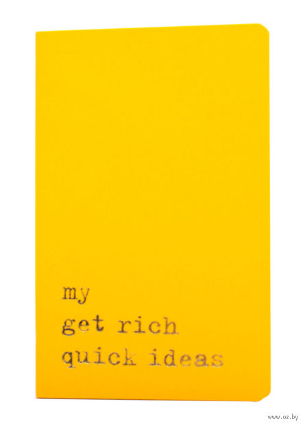 """Записная книжка Молескин """"Volant. My Get Rich Quick Ideas"""" в линейку (карманная; мягкая желтая обложка)"""