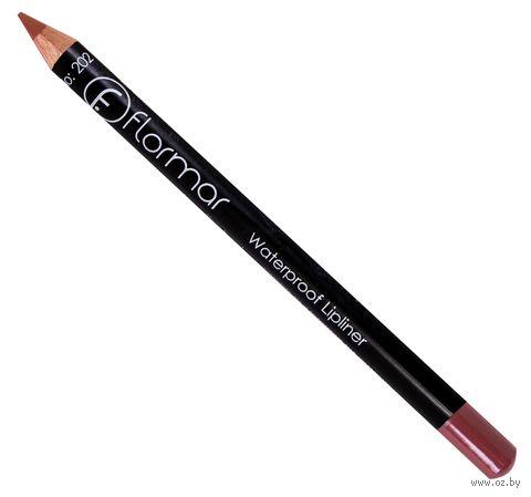 "Карандаш для губ ""Waterproof Lipliner"" тон: 202, soft pink brown — фото, картинка"