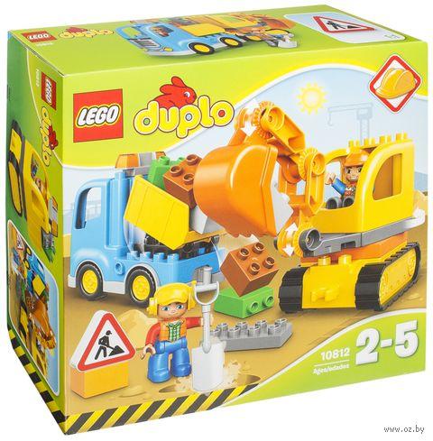 """LEGO Duplo """"Грузовик и гусеничный экскаватор"""" — фото, картинка"""