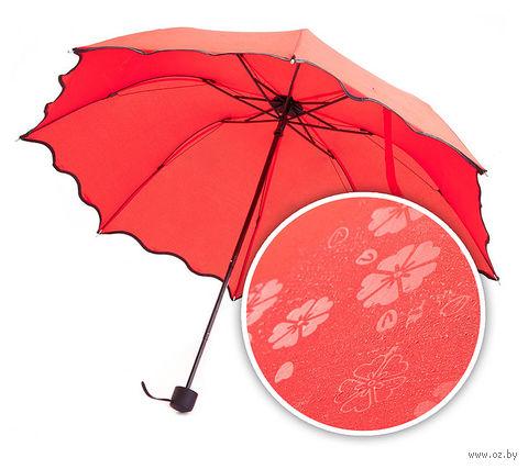 Зонт с проявляющимся рисунком (красный) — фото, картинка