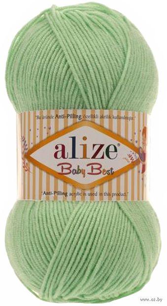 "Пряжа ""ALIZE. Baby Best №41"" (100 г; 240 м; светло-зеленый) — фото, картинка"