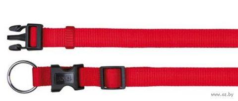 """Ошейник нейлоновый для собак """"Classic"""" (размер XS-S, 22-35 см, красный, арт. 14203)"""
