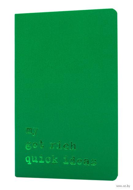 """Записная книжка Молескин """"Volant. My Get Rich Quick Ideas"""" в линейку (карманная; мягкая светло-зеленая обложка)"""