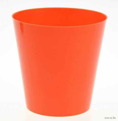 """Цветочный горшок """"Сэмпл"""" (17 см; оранжевый) — фото, картинка"""
