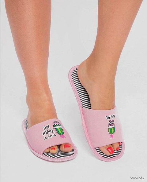 "Тапочки женские ""18W044"" (розовые) — фото, картинка"