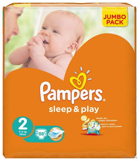 """Подгузники """"Pampers Sleep&Play Chamomile Mini"""" (3-6 кг, 88 шт, арт. 0001010543)"""