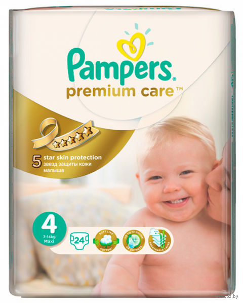 "Подгузники ""Pampers Premium Care Maxi"" (7-14 кг, 24 шт)"