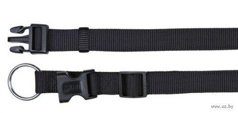 """Ошейник нейлоновый для собак """"Classic"""" (размер L-XL; 40-65 см; черный)"""