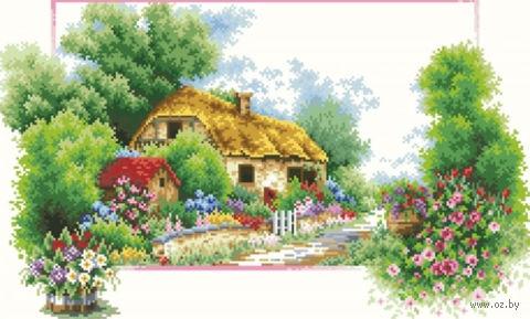 "Алмазная вышивка-мозаика ""Весенний домик"" (350х600 мм) — фото, картинка"